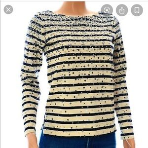 J Crew Factory Confetti Sequin Long Sleeve Tee-XS